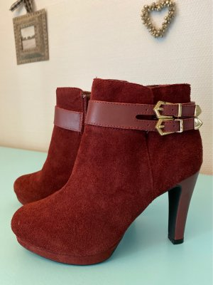 3 Suisses Booties bordeaux-gold-colored