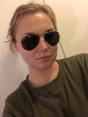 Ray Ban Pilotenbril zwart-goud