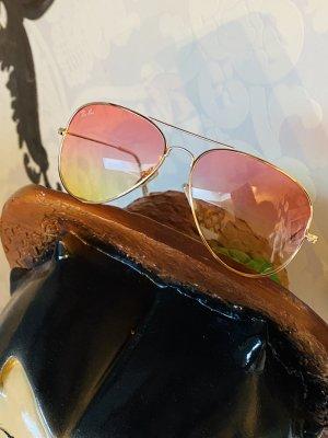 Neue Ray-Ban Pilotenbrille Sonnenbrille Rosa gelb Ungetragen, daher wie neu Np 173€