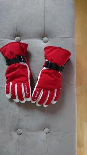 Reusch Rękawice z podszewką biały-czerwony