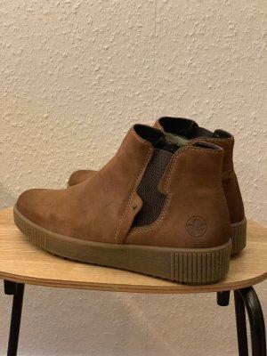 Rieker Zipper Booties brown