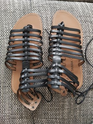 Chattawak Sandalias romanas negro-marrón-negro