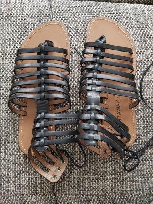 Chattawak Sandały rzymskie czarny-czarno-brązowy