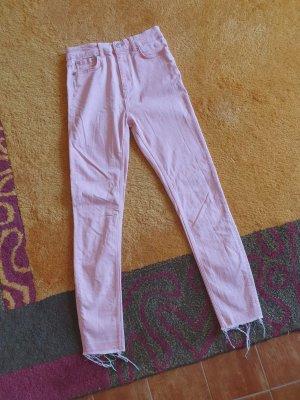 Neue rosa High Waist Jeans von Zara in 36/S