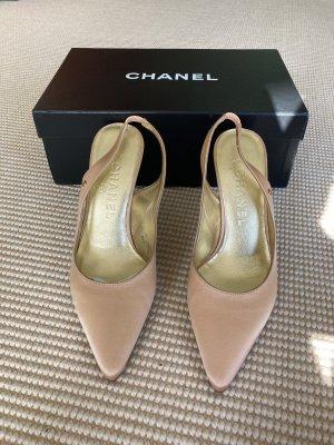 Chanel Slingback Pumps rose-gold-coloured-beige