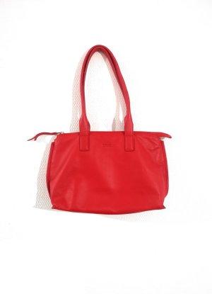 Neue rote Handtasche / Schultertasche von BREE Echtleder