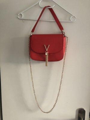 neue rote Valentino Umhängetasche mit gold und Beutel