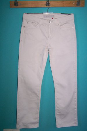 s. Oliver (QS designed) Pantalón elástico blanco Algodón