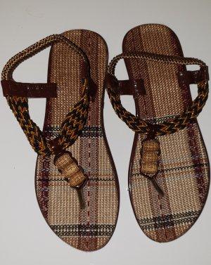 Sandales Salomé à talon haut multicolore