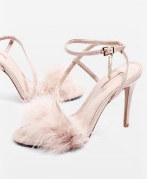 Neue Sandalen High Heels in Nude rosa