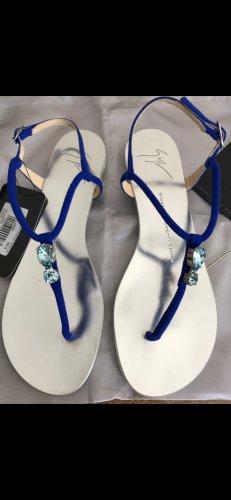 Giuseppe Zanotti Toe-Post sandals blue-silver-colored