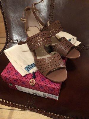 Tory Burch Wedge Sandals cognac-coloured