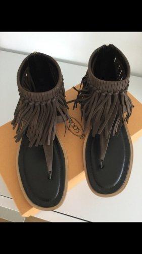 Tod's Sandały japonki brązowy-ciemnobrązowy