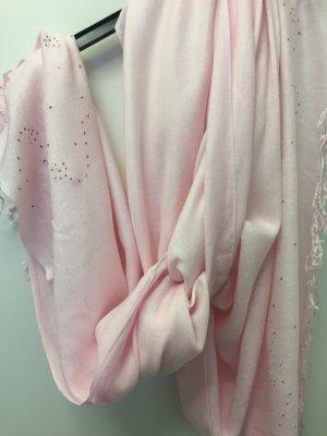 Sciarpa di lana color oro rosa