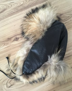 Fur Hat multicolored leather