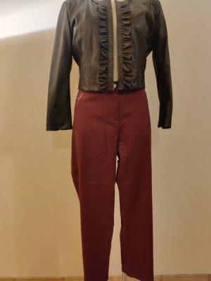 Ambria Selection Pantalón elástico negro-rojo zarzamora Algodón