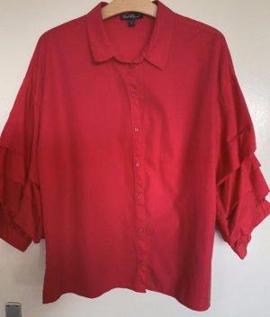 Velvet Heart Cuello de blusa rojo