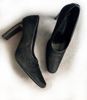 Neue Schuhe, Pumps aus echtem Fell, Franco Paolucci, Gr. 38,5, Metallicabsatz, ungetragen!