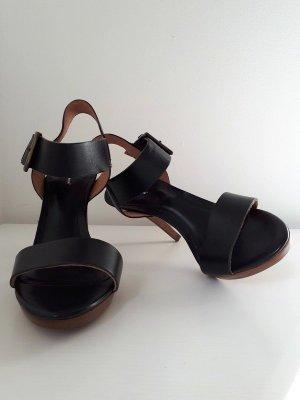 Neue, schwarze Leder High Heels von Vigneron, 38
