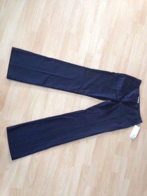 Mango Pantalon en jersey noir coton