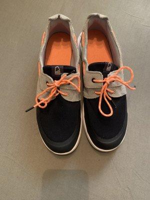 Tribord Zapatos de marinero naranja-azul acero