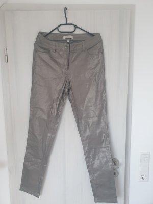 Neue Silberne Hose In Größe M DAMEN  - KLEIDUNG  - DAMENKLEIDUNG  - HOSE