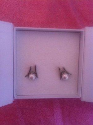 Skagen Orecchino di perle argento-bianco