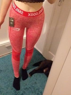 Smilodox Pantalone da ginnastica rosso lampone-magenta
