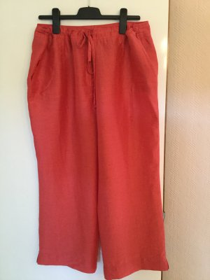 Rabe Pantalon en lin rouge clair lin