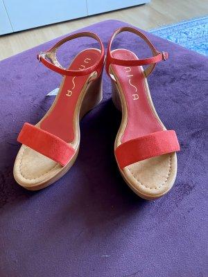 Neue Sommer Schuhe Keilabsatz Gr 41 Unisa