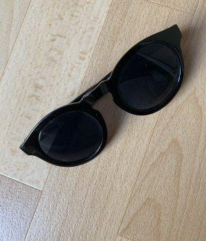 Occhiale da sole rotondo nero