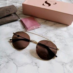 edel optics Retro Glasses gold-colored-brown