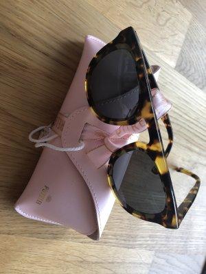 Purelei Hoekige zonnebril zwart-bruin