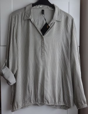 *Neue Soyaconcept Bluse Gr. XXL in beige mit Muster u. Krempelärmel*