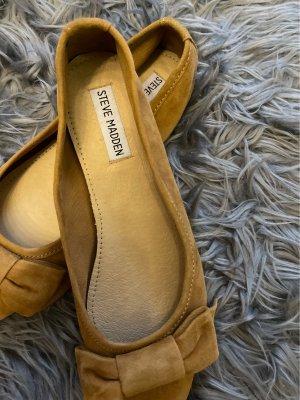 Steve Madden Ballerinas with Toecap ocher-camel leather