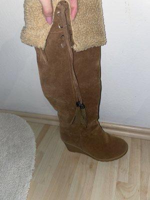 Futrzane buty jasnobrązowy