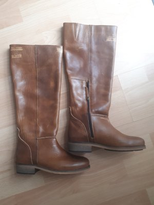 Hub Wide Calf Boots light brown-brown