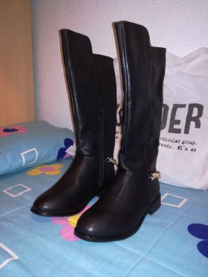 Springfield Riding Boots black-gold-colored imitation leather