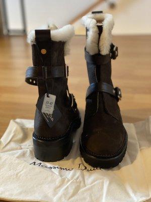 Massimo Dutti Bottine d'hiver brun foncé cuir