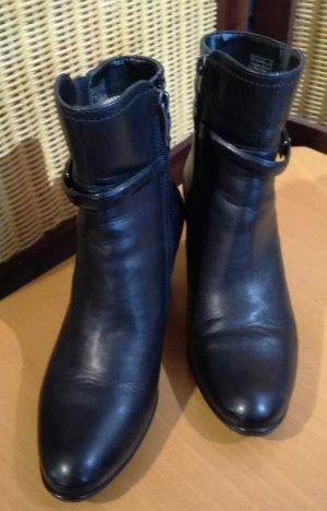 ara Zipper Booties black leather