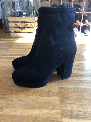 H&M Plateauzool Laarzen zwart