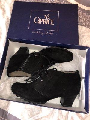 Görtz Shoes Bottes à bout ouvert noir cuir