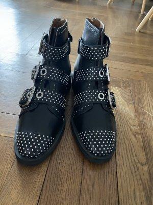 Neue Stiefeletten Nieten Schnallen Zara Leder