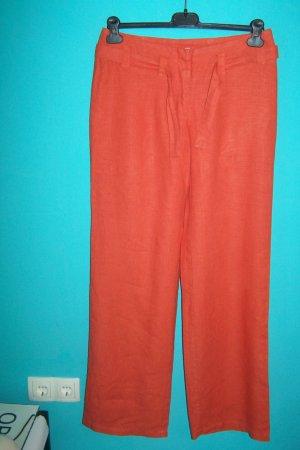 Street One Pantalón de lino naranja Lino