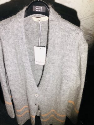 Basic Apparel Coarse Knitted Jacket grey-pink