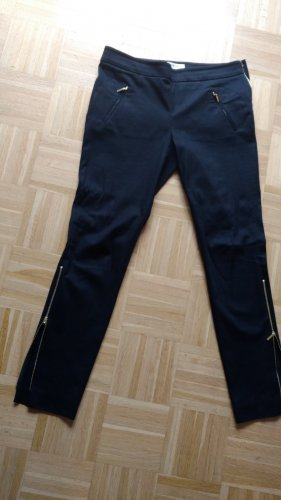 Amann Trousers dark blue cotton