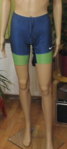 Neue, supercoole Tights von NIKE..Trainingsshorts..Laufen..Sport..blau mit grün..Größe Small, DE 36