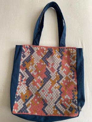 Neue Tasche blau mit Muster