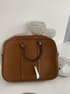 Laptop bag brown-cognac-coloured
