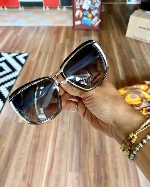 Neue tolle  große La Perla Sonnenbrille weiß Glitzer